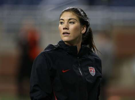 Hope Solo of Team USA warms up prior to the start of the game against China at Ford Field on December 8, 2012, in Detroit, Michigan. USA defeated China 2-0. Photo: Leon Halip, Getty Images
