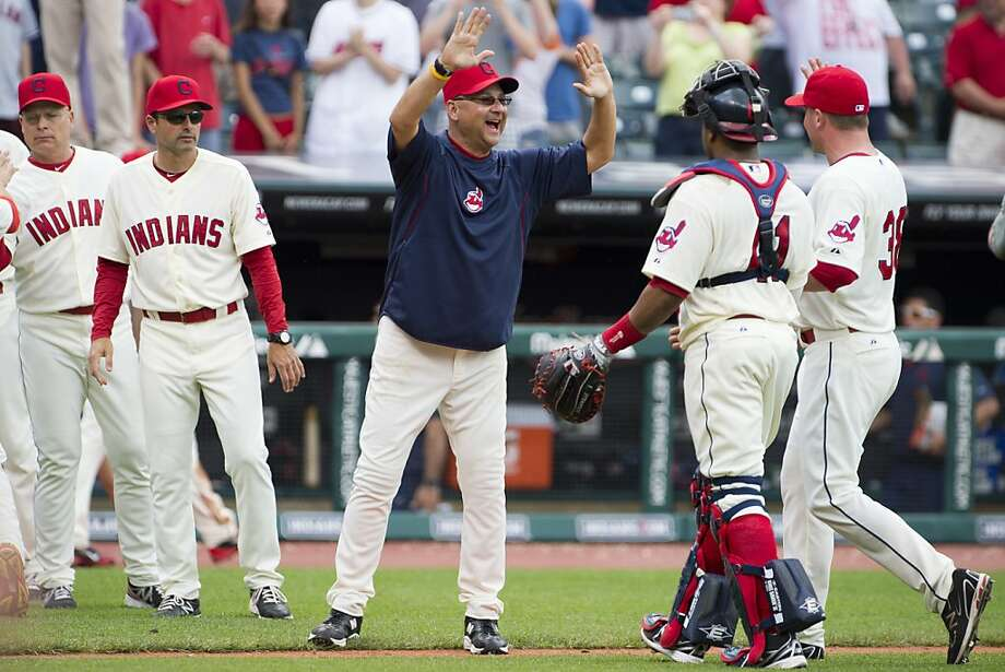 New manager Terry Francona (left) and the Indians are revitalized, perhaps baseball's most fun team. Photo: Jason Miller, Getty Images