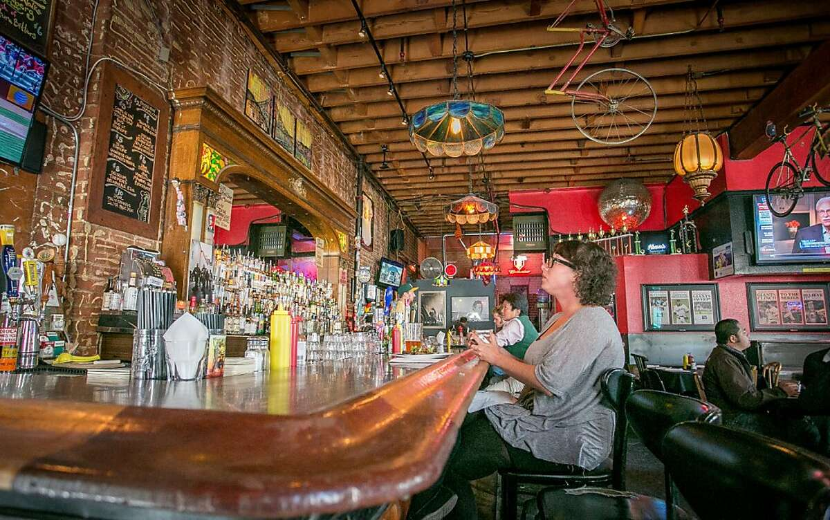 People have lunch at the bar of the Tempest Bar in San Francisco, Calif., is seen on Wednesday, May 22nd, 2013.