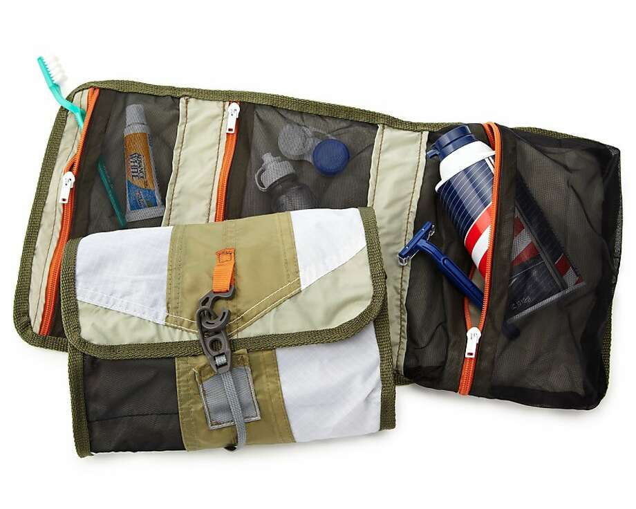A Dopp kit upcycled from tent manufacturing will look spiffy at the spa or in a five-star hotel. Durable, lightweight, water and stain resistant, it's handmade in Mexico ($38). Toiletries not included.  www.uncommongoods.com. Photo: Www.uncommongoods.com
