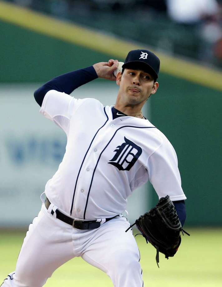 Detroit Tigers starting pitcher Anibal Sanchez throws during the second inning of a baseball game against the Minnesota Twins in Detroit, Friday, May 24, 2013. (AP Photo/Carlos Osorio) Photo: Carlos Osorio
