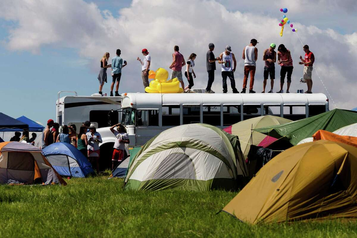 Tens of thousands of attendees flocked from all over the U.S. and beyond to attend the first day of the annual Sasquatch music festival Friday, May 24, 2013, at The Gorge Amphitheatre in George.