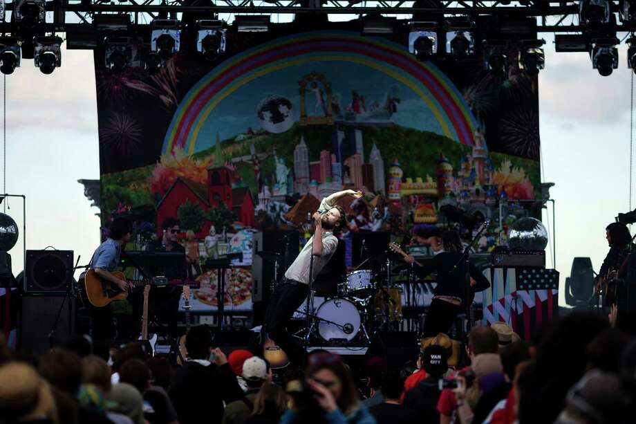 Father John Misty performs on the first day of the annual Sasquatch music festival Friday, May 24, 2013, at The Gorge Amphitheatre in George. Photo: JORDAN STEAD, SEATTLEPI.COM / SEATTLEPI.COM
