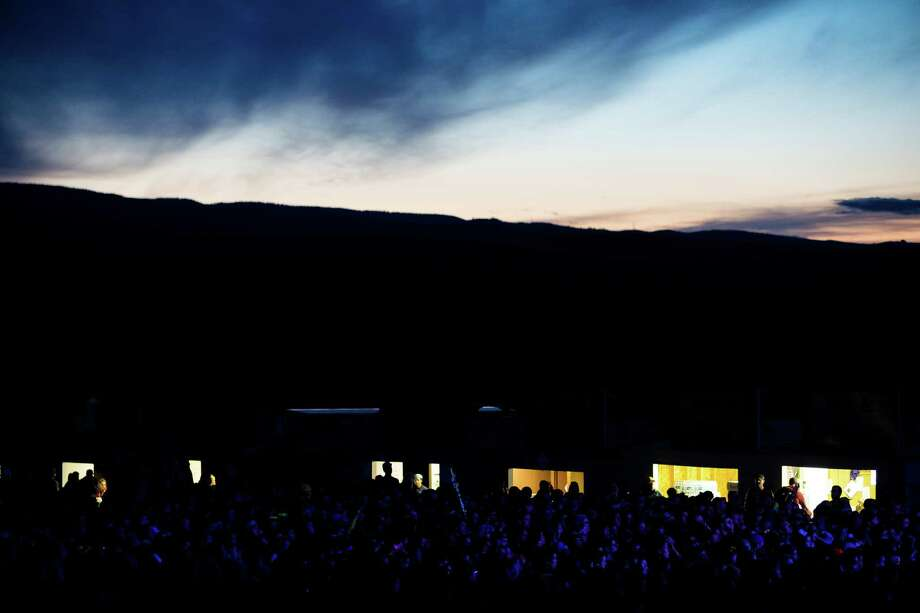 Night fell on tens of thousands of attendees on the first day of the annual Sasquatch music festival Friday, May 24, 2013, at The Gorge Amphitheatre in George. Photo: JORDAN STEAD, SEATTLEPI.COM / SEATTLEPI.COM