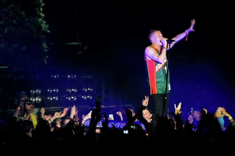 Macklemore & Ryan Lewis perform from the main stage to tens of thousands of onlookers on the first day of the annual Sasquatch music festival Friday, May 24, 2013, at The Gorge Amphitheatre in George. Photo: JORDAN STEAD, SEATTLEPI.COM / SEATTLEPI.COM