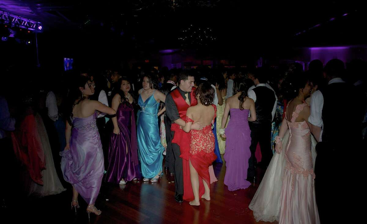 Prom-goers at the Danbury High School Senior Prom held at the Amber Room Colonnade, in Danbury, Conn. Friday , May 24, 2013.
