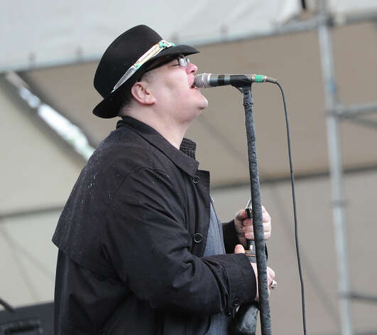 John Popper, the lead singer for the band, Blues Traveler, performs with the band during the Greenwich Town Party at Roger Sherman Baldwin Park, Saturday, May 25, 2013. Photo: Bob Luckey / Greenwich Time
