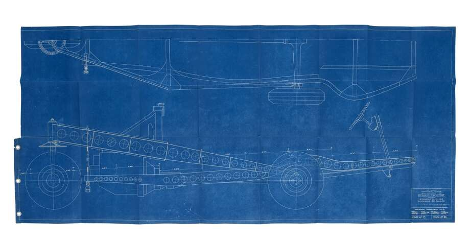 One of the Dymaxion blueprints that will be auctioned off in Chicago on June 6. (Courtesy Wright auction house, Chicago)