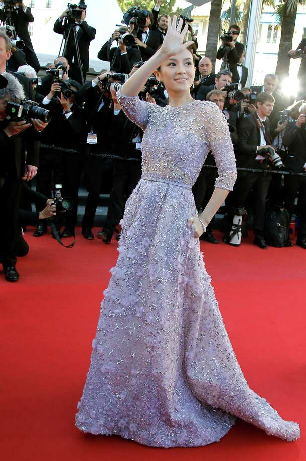 Actress Zhang Ziyi arrives for the screening of Venus in Fur at the 66th international film festival, in Cannes, southern France, Saturday, May 25, 2013. Photo: AP