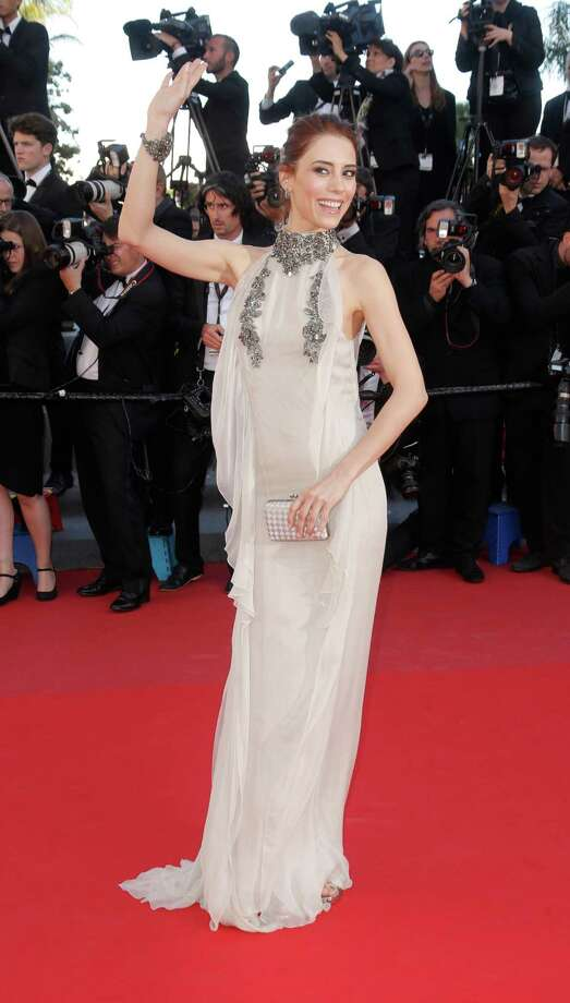 Model Cansu Dere arrives on the red carpet for the screening of Venus in Fur at the 66th international film festival, in Cannes, southern France, Saturday, May 25, 2013. Photo: AP