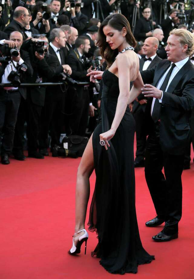 Model Izabel Goulart arrives for the screening of The Immigrant at the 66th international film festival, in Cannes, southern France, Friday, May 24, 2013. Photo: AP