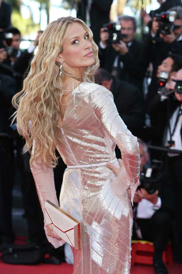 Model Petra Nemcova arrives on the red carpet for the screening of Behind the Candelabra at the 66th international film festival, in Cannes, southern France, Tuesday, May 21, 2013. Photo: AP