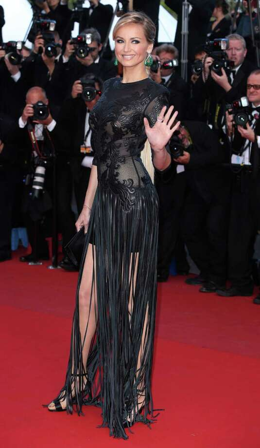 Model Adriana Karembeu arrives for the screening of Behind the Candelabra at the 66th international film festival, in Cannes, southern France, Tuesday, May 21, 2013. Photo: AP