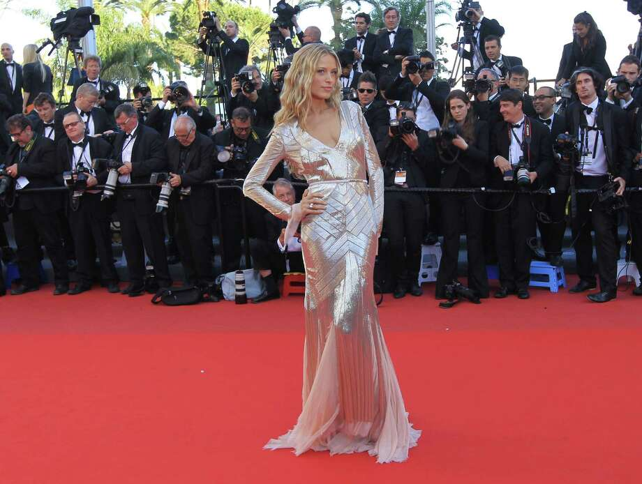 Model Petra Nemcova arrives for the screening of Behind the Candelabra at the 66th international film festival, in Cannes, southern France, Tuesday, May 21, 2013. Photo: AP