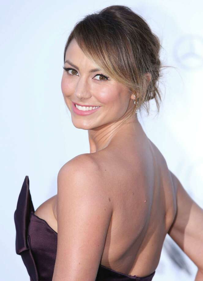 Stacey Keibler arrives at amfAR Cinema Against AIDS benefit at the Hotel du Cap-Eden-Roc, during the 66th international film festival, in Cap d'Antibes, southern France, Thursday, May 23, 2013. Photo: AP
