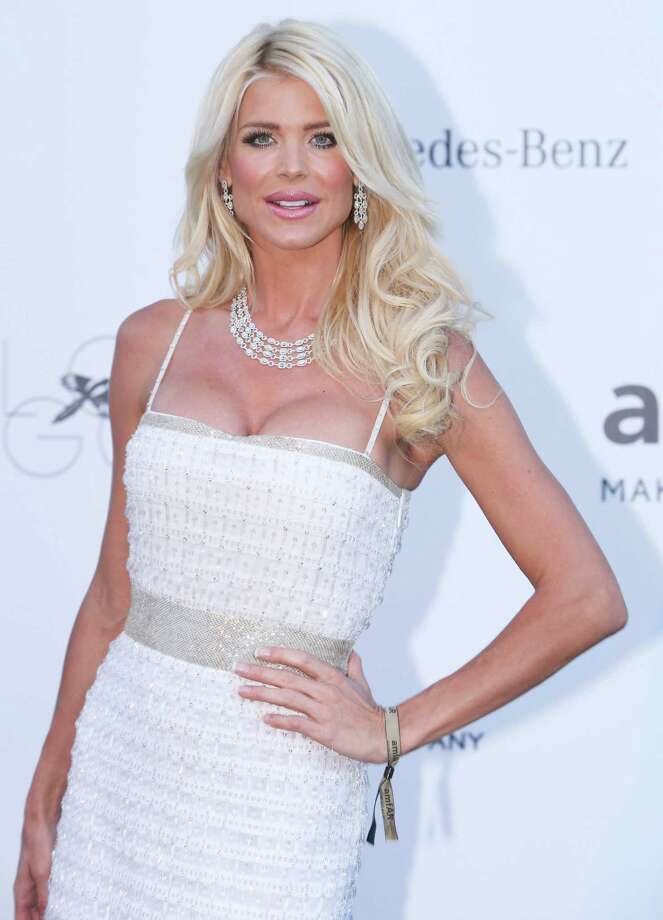 Model Victoria Silvstedt arrives at amfAR Cinema Against AIDS benefit at the Hotel du Cap-Eden-Roc, during the 66th international film festival, in Cap d'Antibes, southern France, Thursday, May 23, 2013. Photo: AP
