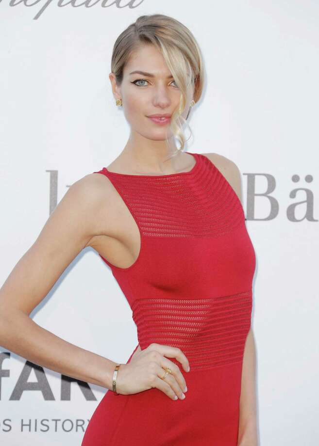 Model Jessica Hart arrives at amfAR Cinema Against AIDS benefit at the Hotel du Cap-Eden-Roc, during the 66th international film festival, in Cap d'Antibes, southern France, Thursday, May 23, 2013. Photo: AP