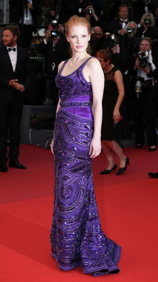 Actress Jessica Chastain arrives on the red carpet for the screening of All Is Lost at the 66th international film festival, in Cannes, southern France, Wednesday, May 22, 2013. Photo: AP