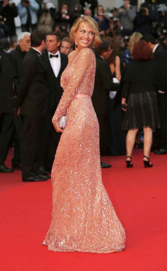 Model Petra Nemcova arrives on the red carpet for the screening of All Is Lost at the 66th international film festival, in Cannes, southern France, Wednesday, May 22, 2013. Photo: AP