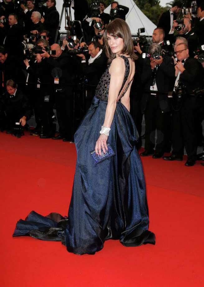 Model Milla Jovovich arrives for the screening of All Is Lost at the 66th international film festival, in Cannes, southern France, Wednesday, May 22, 2013. Photo: AP