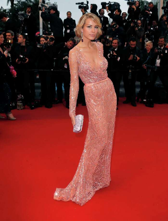 Model Petra Nemcova arrives for the screening of All Is Lost at the 66th international film festival, in Cannes, southern France, Wednesday, May 22, 2013. Photo: AP