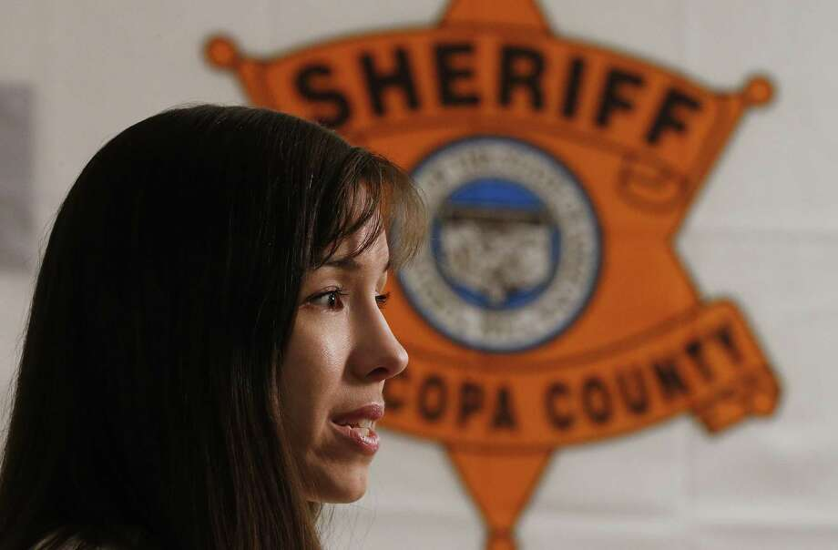 Convicted killer Jodi Arias speaks during an interview at the Maricopa County Estrella Jail on Tuesday, May 21, 2013, in Phoenix.  Arias was convicted recently of killing her former boyfriend Travis Alexander in his suburban Phoenix home back in 2008, made a plea in court on Tuesday for life in prison, instead of execution, saying she can contribute to society if allowed to live. Photo: AP