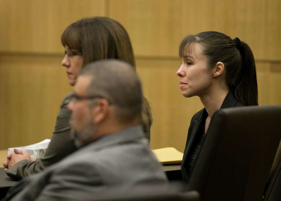 Jodi Arias listens as the verdict for sentencing is read for her first degree murder conviction at Maricopa County Superior Court in Phoenix, Ariz., on Thursday, May 23, 2013. The jury in Jodi Arias' murder trial was dismissed after failing to reach a verdict against the woman they convicted of murdering her one-time boyfriend in a case that captured headlines worldwide with its sex, lies, violence. Photo: AP