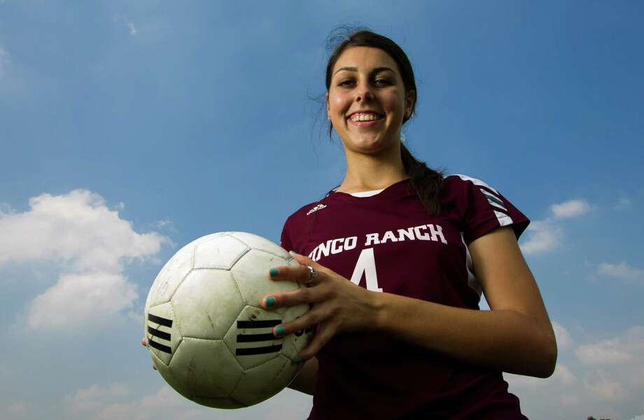 Cinco Ranch's Maddie Nichols poses for a portrait on Wednesday, May 22, 2013, in Katy. She has been named the All-Greater Houston girls soccer athlete of the year. ( J. Patric Schneider / For the Chronicle ) Photo: J. Patric Schneider, Freelance / © 2013 Houston Chronicle