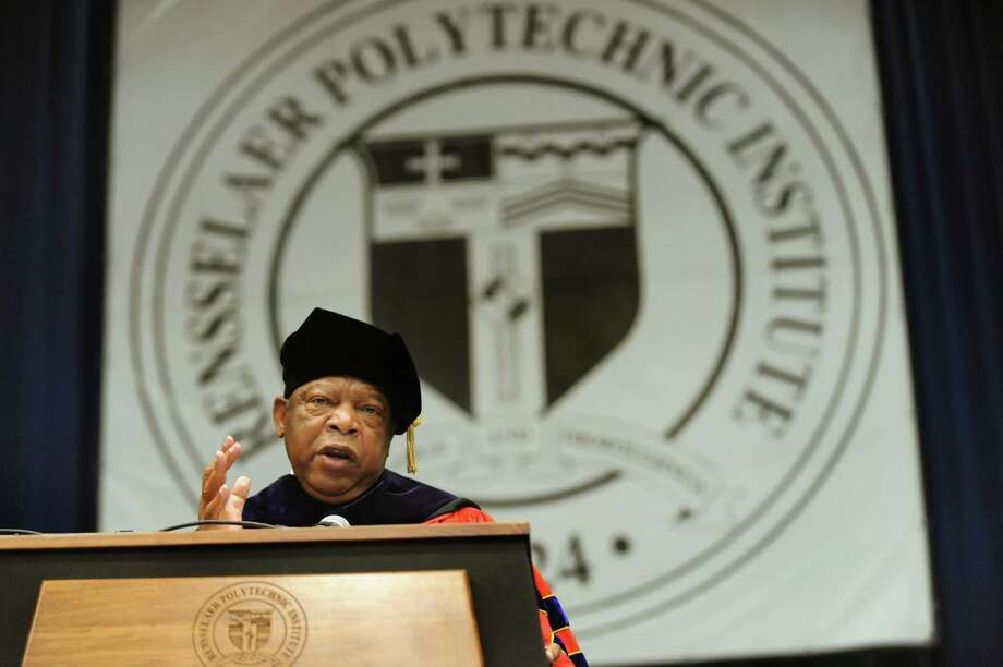U.S. Rep. John R. Lewis, a civil rights leader, delivers the commencement address during RPI college commencement on Saturday, May 25, 2013, at Rensselaer Polytechnic Institute in Troy, N.Y. (Cindy Schultz / Times Union) Photo: Cindy Schultz / 10022129A
