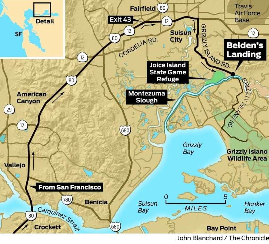 Launch an adventure at belden 39 s landing sfgate for Montezuma slough fishing report