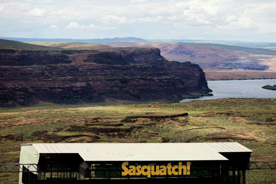A view of the Columbia River from the hill overlooking the main stage on the second day of the annual Sasquatch music festival Saturday, May 25, 2013, at The Gorge Amphitheatre in George. Photo: JORDAN STEAD, SEATTLEPI.COM / SEATTLEPI.COM