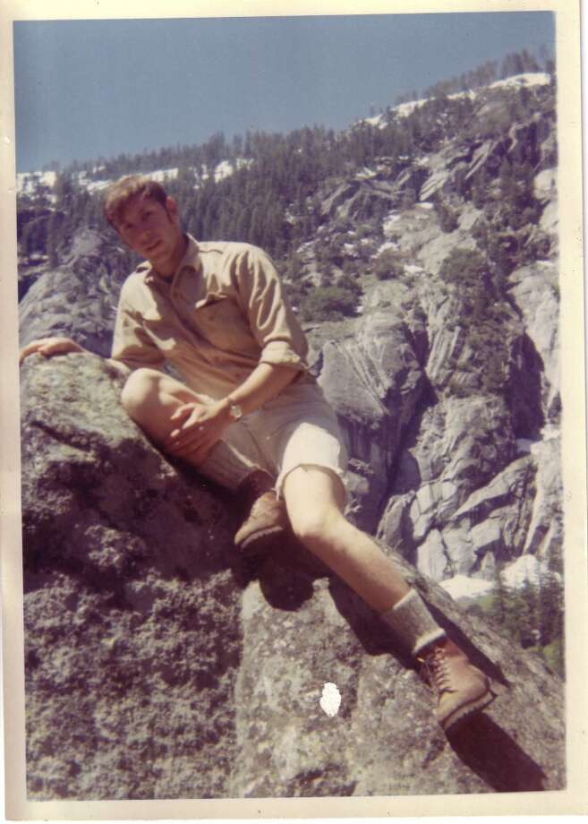 Larry Ellison as a young man on Yosemite.