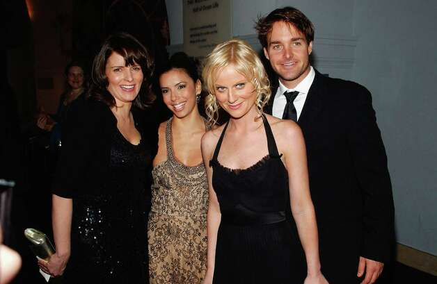 (L-R) Saturday Night Live cast member Tina Fey, actress Eva Longoria, SNL members Amy Poehler and Will Forte attend the Gala Benefit For Museum Of Natural History on November 16, 2005 in New York City. Photo: Andrew H. Walker, Getty Images / Getty Images North America