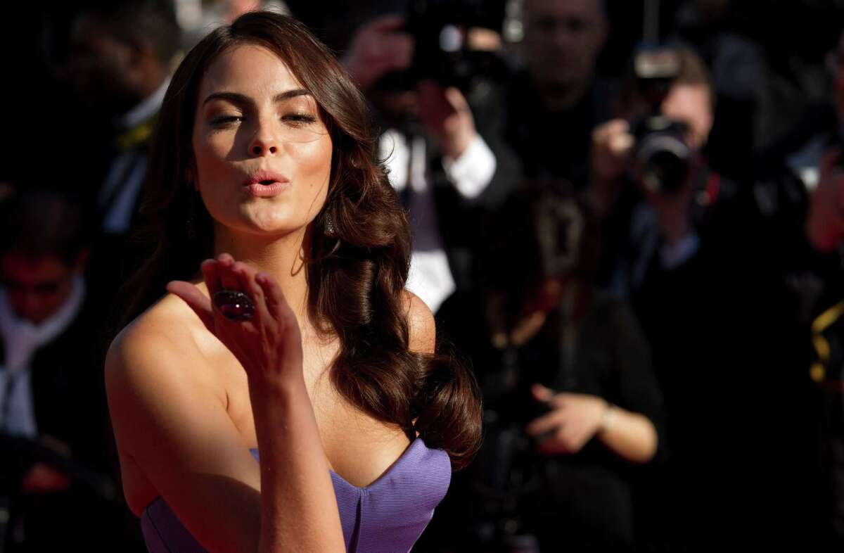 Ximena Navarrete poses for photographers as she arrives for the screening of Venus in Fur at the 66th international film festival, in Cannes, southern France, Saturday, May 25, 2013.