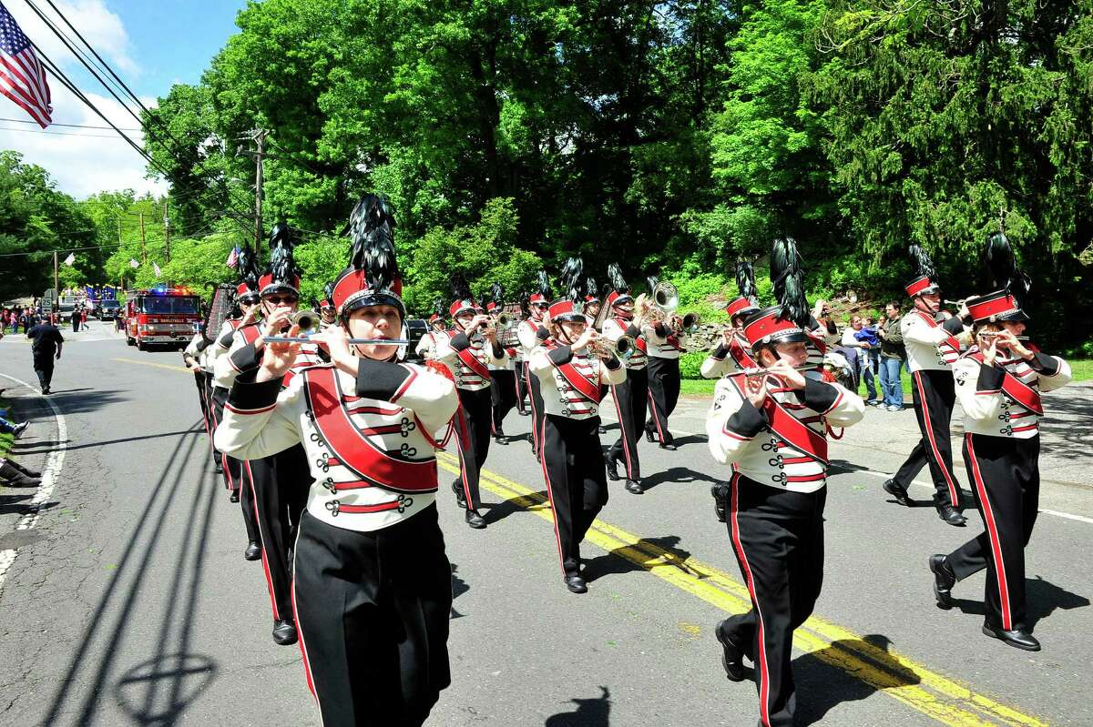 Brookfield's Memorial Day parade passes Williams Park in Brookfield, Conn. Sunday, May 26, 2013.