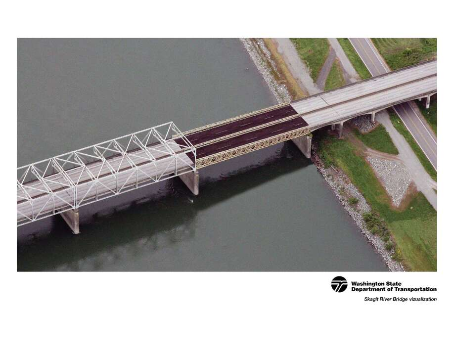 "Gov. Inslee today announced a plan to replace the collapsed portion of the Interstate 5 bridge over the Skagit River near Mt. Vernon.""We will install a temporary span on the bridge that will restore traffic while we build a safe and durable permanent span adjacent to it,"" said Governor Inslee.The temporary four-lane bridge will carry I-5 traffic over the Skagit River at a reduced speed and capacity. The bridge will consist of two, 24-foot wide structures to replace the collapsed section of the bridge. These structures will be pre-built and trucked to the site to allow for accelerated installation. The remaining southern section has been examined and will not need to be replaced."