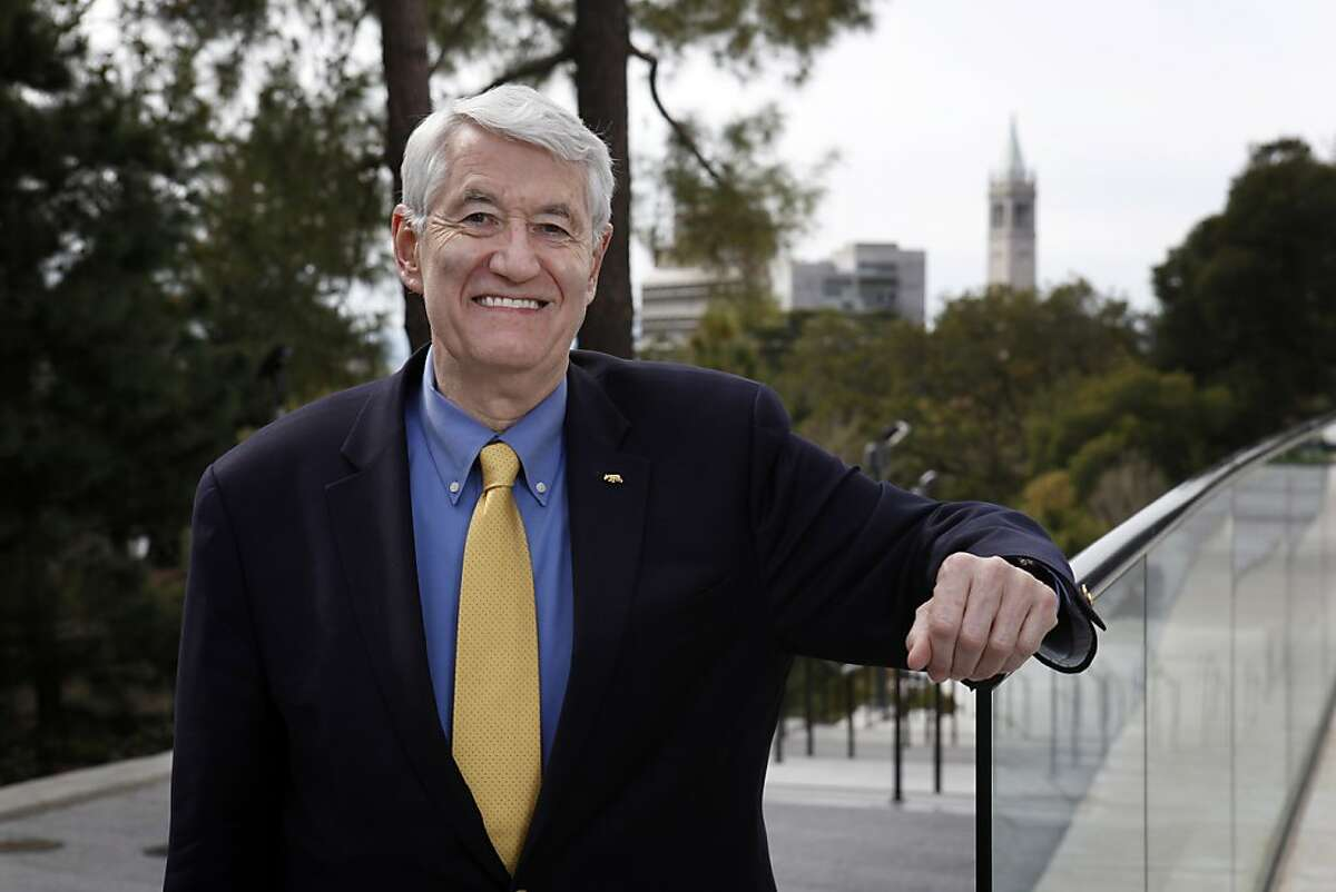 UC Berkeley Chancellor, Robert Birgeneau is stepping down after 8 years. He is seen here on the campus in Berkeley, Calif., on Monday, March 19, 2012.