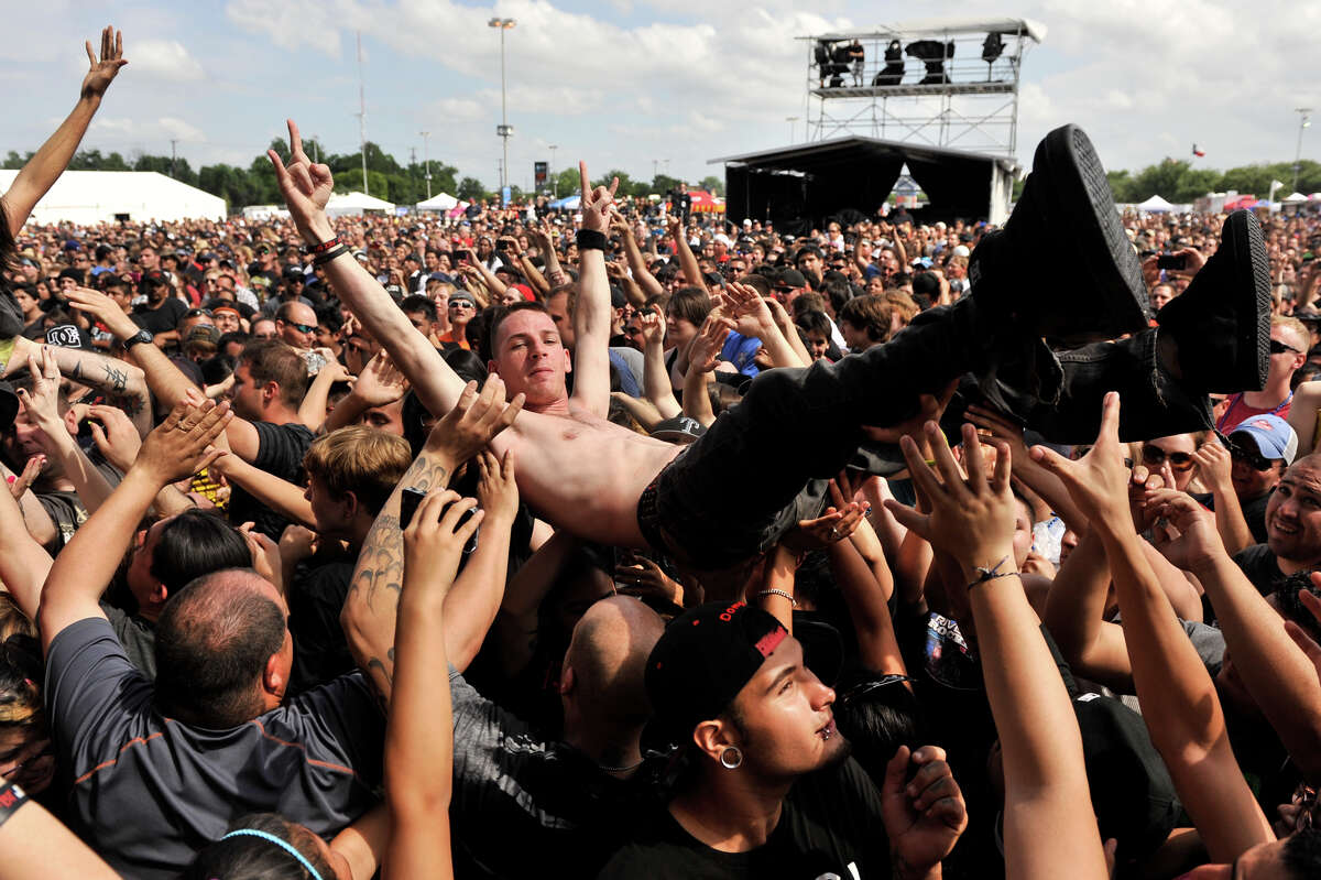 Fans enjoy the first annual River City Rockfest at the AT&T Center Sunday afternoon, May 26, 2013.