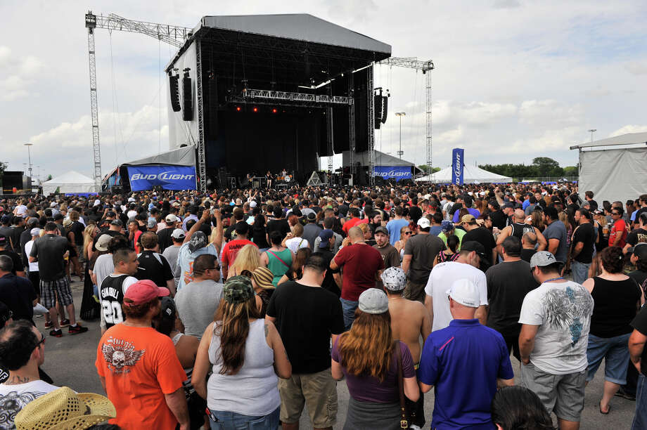 A large crowd attended the first annual River City Rockfest Sunday afternoon, May 26, 2013, at the AT&T Center. Photo: Robin Jerstad, For The San Antonio Express-News