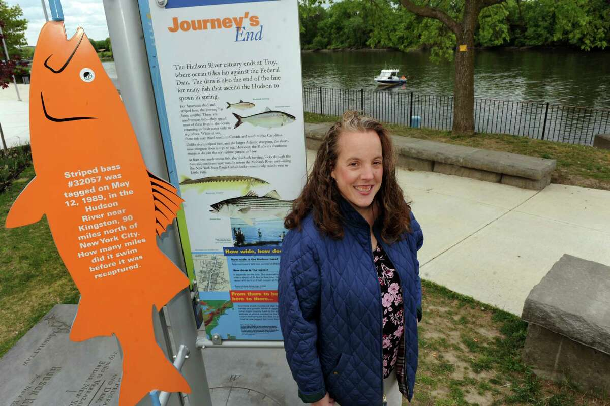 Nancy Behrens of Watervliet on Tuesday, May 14, 2013, at Riverfront Park in Troy, N.Y. Behrens, an educator at CMOST, is finding support for an aquarium in the Capital Region. (Cindy Schultz / Times Union)