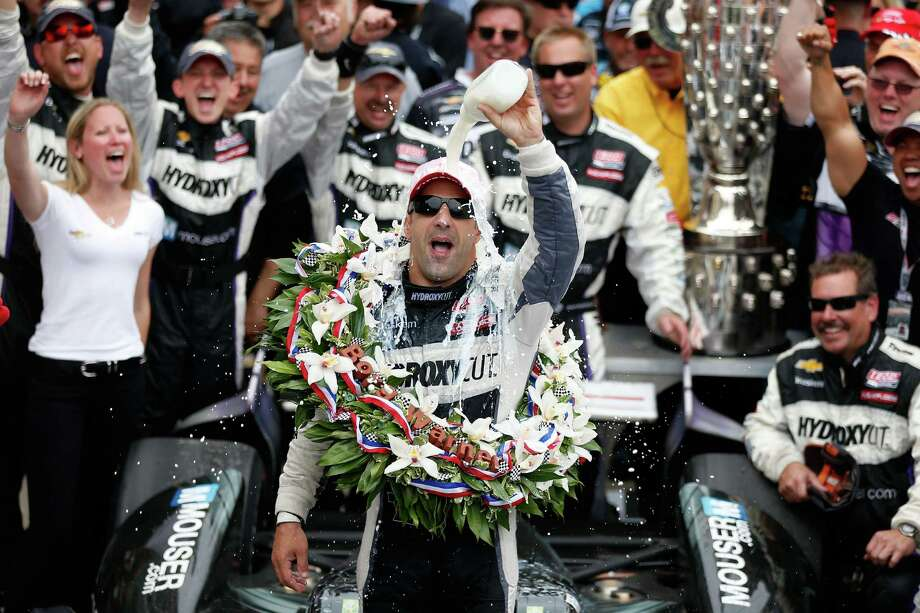 Got milk? Brazil's Tony Kanaan finally did, pouring it on himself in Victory Lane after ending 12 years of frustration with his first Indianapolis 500 win on Sunday. Photo: Chris Graythen, Staff / 2013 Getty Images