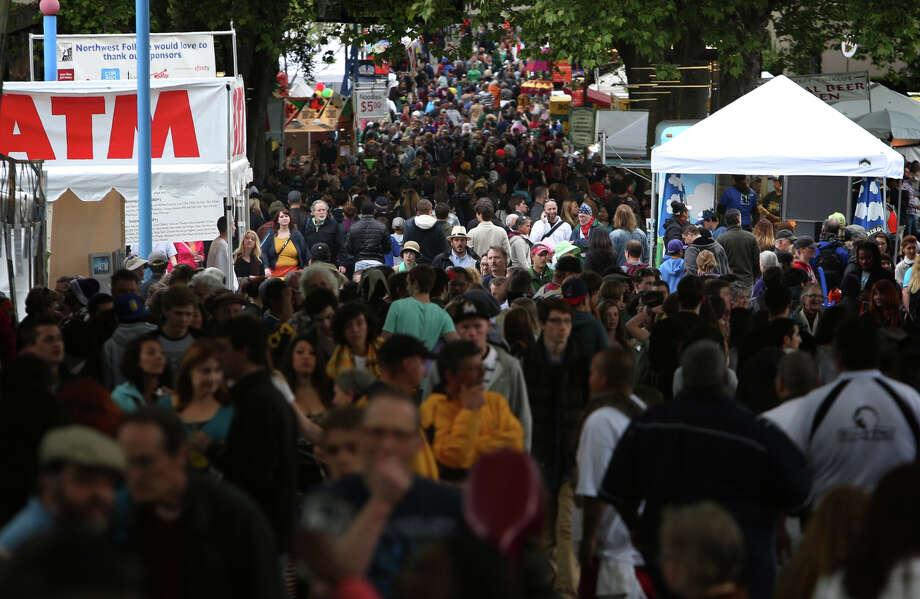 Thousands of people pack the Seattle Center during the Northwest Folklife Festival. Photo: JOSHUA TRUJILLO, SEATTLEPI.COM / SEATTLEPI.COM