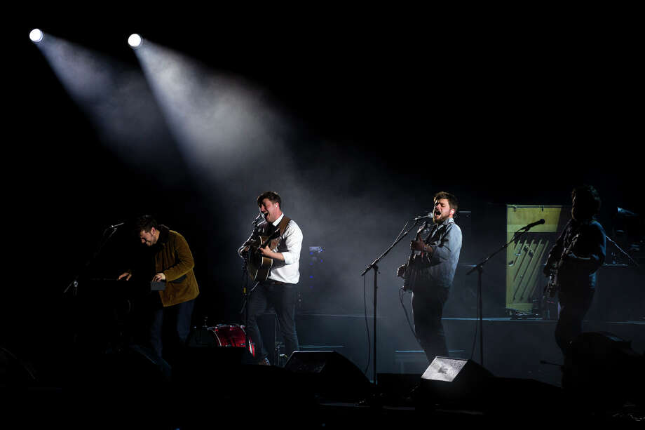 Mumford & Sons performs on the third day of the annual Sasquatch music festival Sunday, May 26, 2013, at The Gorge Amphitheatre in George. Photo: JORDAN STEAD, SEATTLEPI.COM / SEATTLEPI.COM