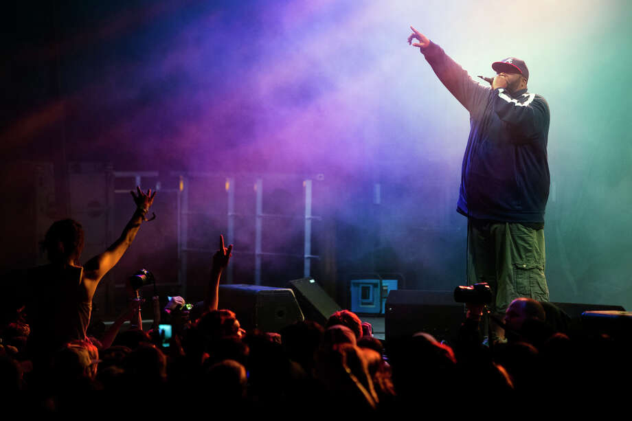 Rapper Killer Mike performs on the third day of the annual Sasquatch music festival Sunday, May 26, 2013, at The Gorge Amphitheatre in George. Photo: JORDAN STEAD, SEATTLEPI.COM / SEATTLEPI.COM