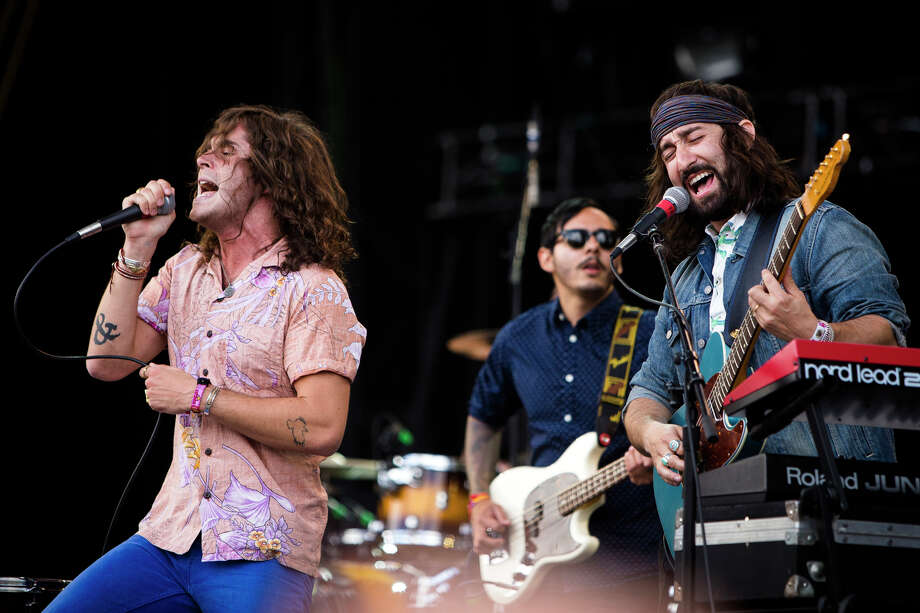 Youngblood Hawke perform on the third day of the annual Sasquatch music festival Sunday, May 26, 2013, at The Gorge Amphitheatre in George. Photo: JORDAN STEAD, SEATTLEPI.COM / SEATTLEPI.COM