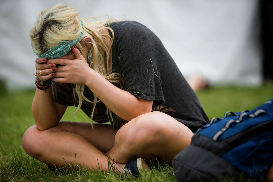 Some attendees struggled with the balance of hydration and alcohol consumption on the third day of the annual Sasquatch music festival Sunday, May 26, 2013, at The Gorge Amphitheatre in George. Photo: JORDAN STEAD, SEATTLEPI.COM / SEATTLEPI.COM