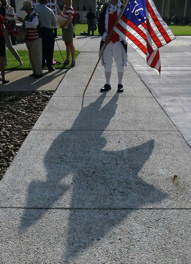 """While dining on Flag Day in 1908, Theodore Roosevelt thought he was witnessing a man wiping his nose with the American flag. He went about beating the man with his cane, only to find that the poor gentleman wasn't soping up his snot with our colors. He apologized, but hit the man once more for """"riling"""" him up over the flag in the first place. Photo: James Nielsen, Houston Chronicle / © 2013  Houston Chronicle"""