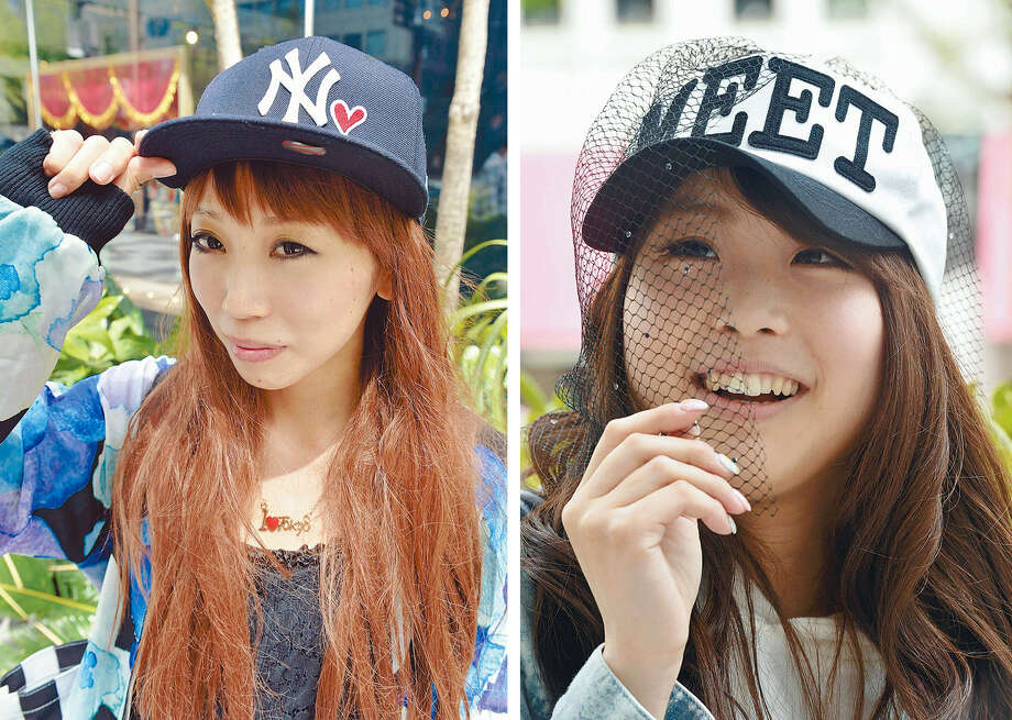 Young women in Japan are flocking to baseball caps, pairing them with dresses,  miniskirts and other casual attire. Photo: Yomiuri Shimbun, Washington Post