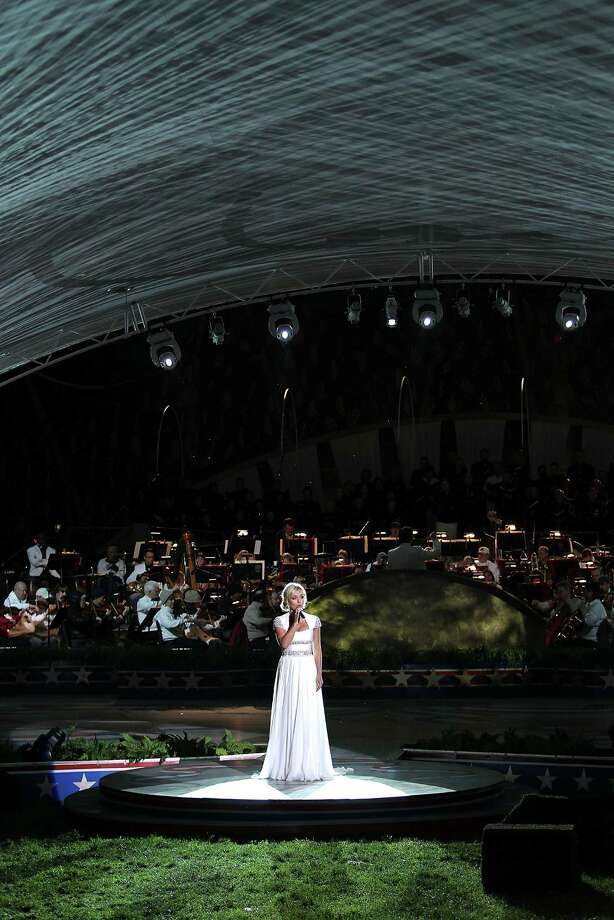 Katherine Jenkins performs during the 2013 PBS National Memorial Day Concert Rehearsals at the US Capitol on May 25, 2013 in Washington, DC.  (Photo by Paul Morigi/WireImage) Photo: Paul Morigi, Getty Images / 2013 Paul Morigi