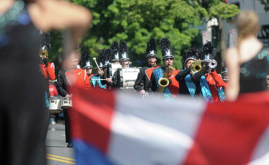 The Mohonasen Marching Band heads down Central Ave. during the Albany Memorial Day Parade on Monday, May 27, 2013 in Albany, NY.   (Paul Buckowski / Times Union) Photo: Paul Buckowski